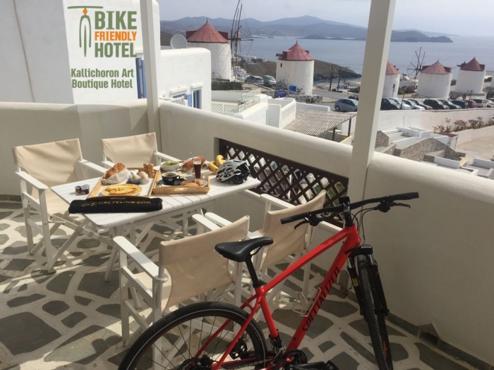 "Kallichoron becomes the first hotel in Astypalea to be certified as ""Bike Friendly Hotel"""